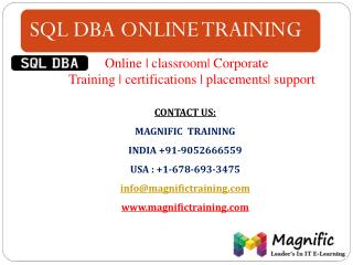 sql dba online training