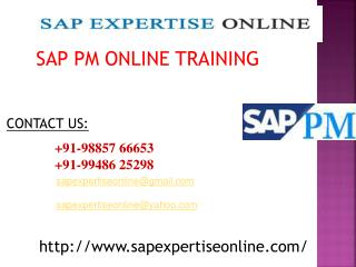 sap pm online training in bangalore