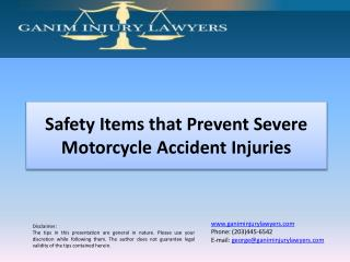Safety Items to Prevent Motorcycle Accident Injuries