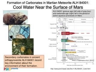 Formation of Carbonates in Martian Meteorite ALH 84001: Cool Water Near the Surface of Mars