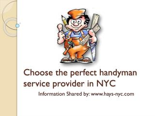 Choose the perfect handyman service provider