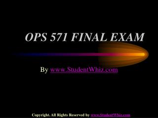 OPS 571 FINAL EXAM QUESTION ANSWERS