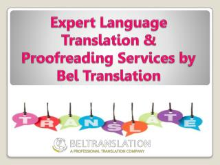 Expert Language Translation & Proofreading Services