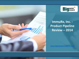 2014 ImmuRx, Inc. Product Market Size Pipeline Review