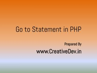 Goto Statement in PHP - Learn in 20 Mins