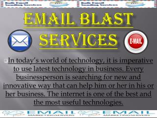 Email Blast Services
