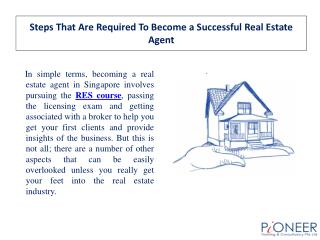 Steps That Are Required To Become a Successful Real Estate A
