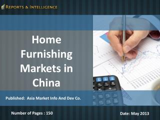 Home Furnishing Markets in China