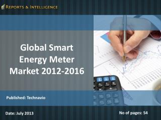 Global Smart Energy Meter Market 2012-2016