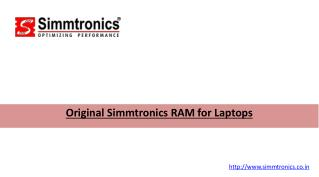 Original Simmtronics RAM for Laptops