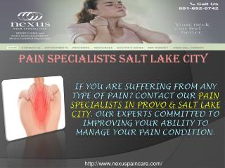 Pain Specialists Salt Lake City