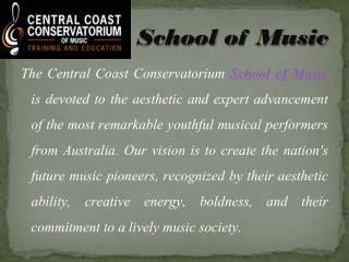 Excellent School of Music Programs in Australia