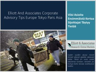 Elliott And Associates Corporate Advisory Tips