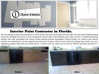 Painting Contractors in Orlando Florida