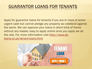Guarantor Loans for Tenants