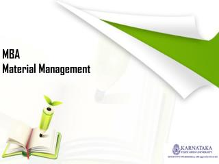 MBA in Material Management