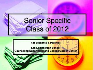 Senior Specific  Class of 2012