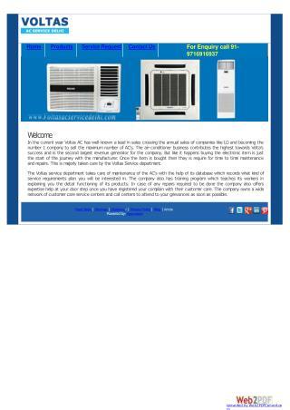 Voltas AC Service Delhi-NCR
