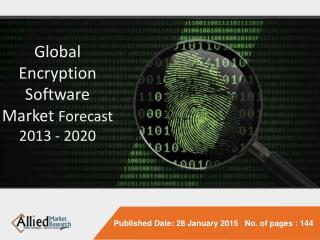 Global Encryption Software Market Forecast 2013 - 2020