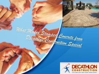 What Makes Stamped Concrete from Decathlon Construction Spec
