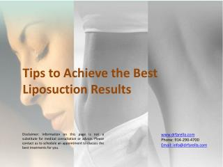 Tips to Achieve the Best Liposuction Results