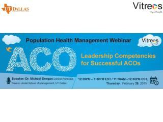 Population Health Management Webinar