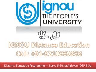 ignou distance education