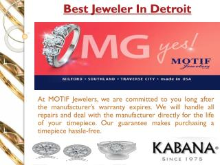 Best jeweler in Detroit