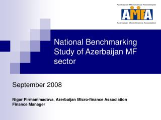 National Benchmarking Study of Azerbaijan MF sector