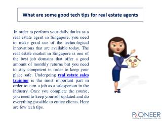 What are some good tech�tips�for�real estate�agents