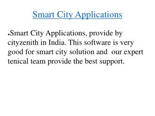 Software For Smart City