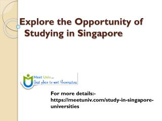 Study MBA with Top Universities in Singapore