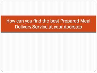 Meal Delivery Service at your doorstep