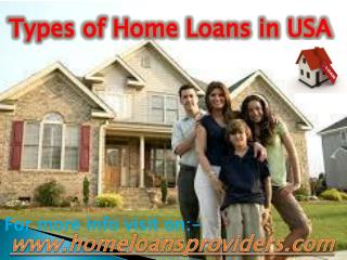 Types of Home Loans in USA