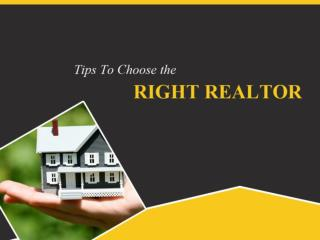 Carmel Realty - Tips to Choose the Right Realtor