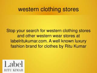 western clothing stores in India