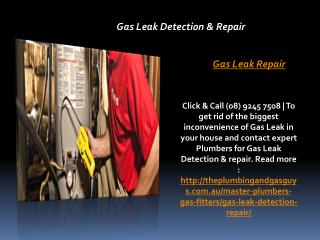 Gas Leak Detection & Repair