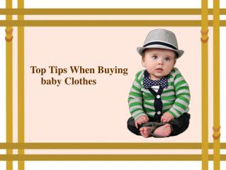 Top Tips When Buying Baby Clothes