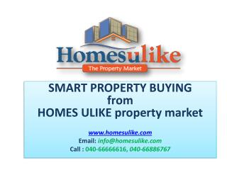 Buy properties in Hyderabad - Homesulike.com