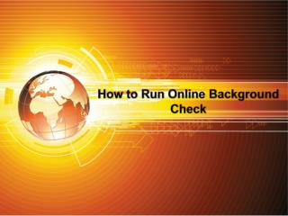 How to Run Online Background Check