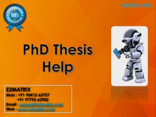 Phd Thesis Help