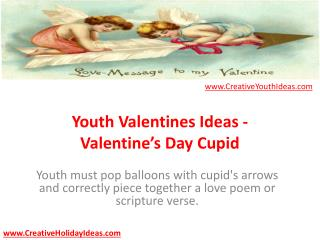 Youth Valentines Ideas - Valentine's Day Cupid