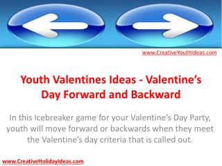 Youth Valentines Ideas - Valentine's Day Forward and Backwar