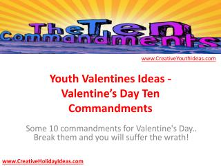 Youth Valentines Ideas - Valentine's Day Ten Commandments