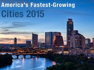 America's Fastest-Growing Cities 2015