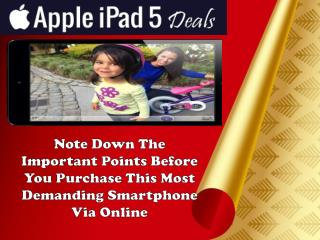 Apple iPad 5 Deals: Flexibility Of Repayment Is There