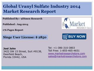 Global Uranyl Sulfate Industry 2014 Market Research Report