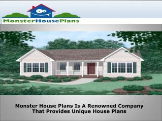 Monster House Plans Is A Renowned Company