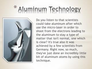 Aluminum Technology