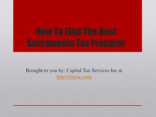 How To Find The Best Sacramento Tax Preparer